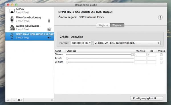 Oppo HA-2 konfig @ Mac